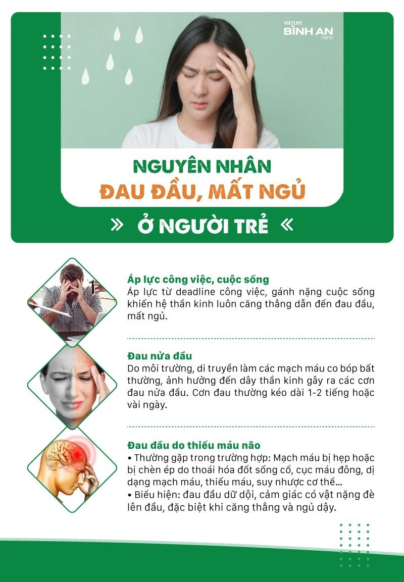 Nguyên nhân đau đầu, mất ngủ ở người trẻ 1